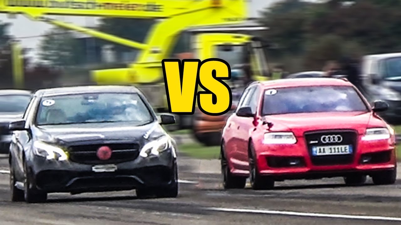 Audi Rs6 C6 Vs Mercedes E63 Amg Drag Race Tuga Cars